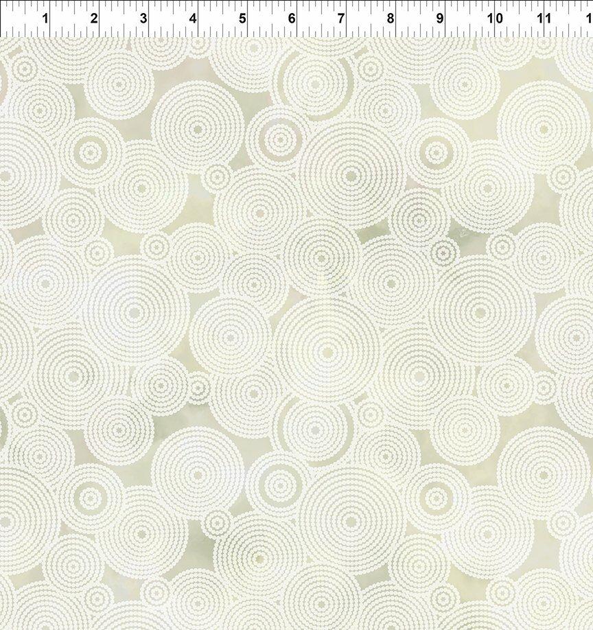 Florigraphix V - Cream Circles (8-4) - 1/2m cut 57082