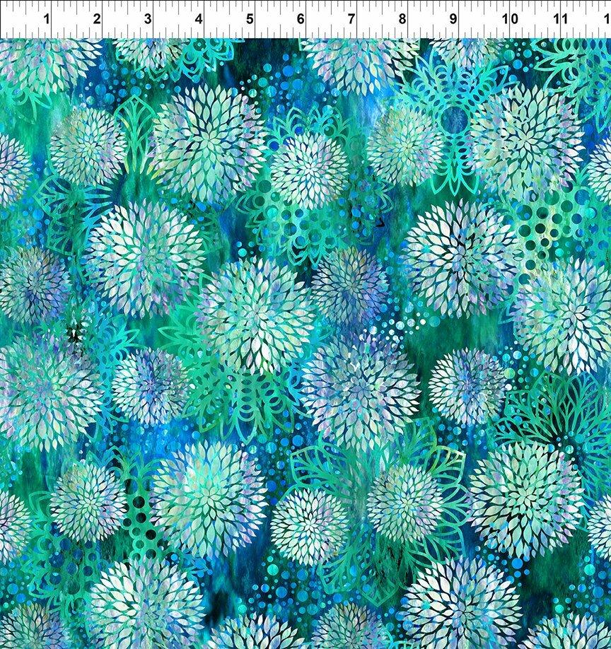 Florigraphix V - Blue Chrysanthemum (3-2) - 1/2m cut 57066