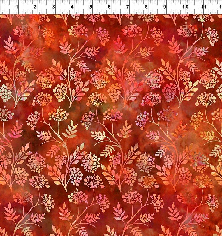 Florigraphix V - Red Sprigs (6-1) - 1/2m cut 57073