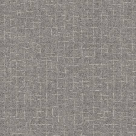 Woolies Flannel - Pewter Cross Hatch - 1/2m cut 57093