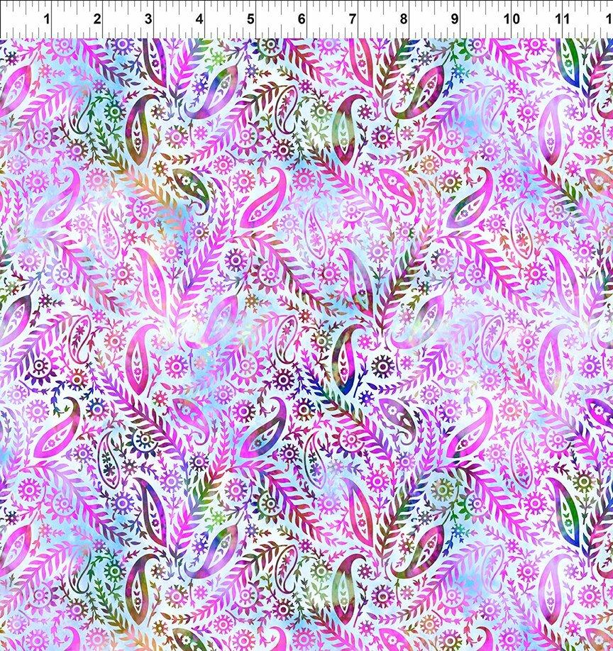 Florigraphix V - Lavender Paisley (5-2) - 1/2m cut 57072