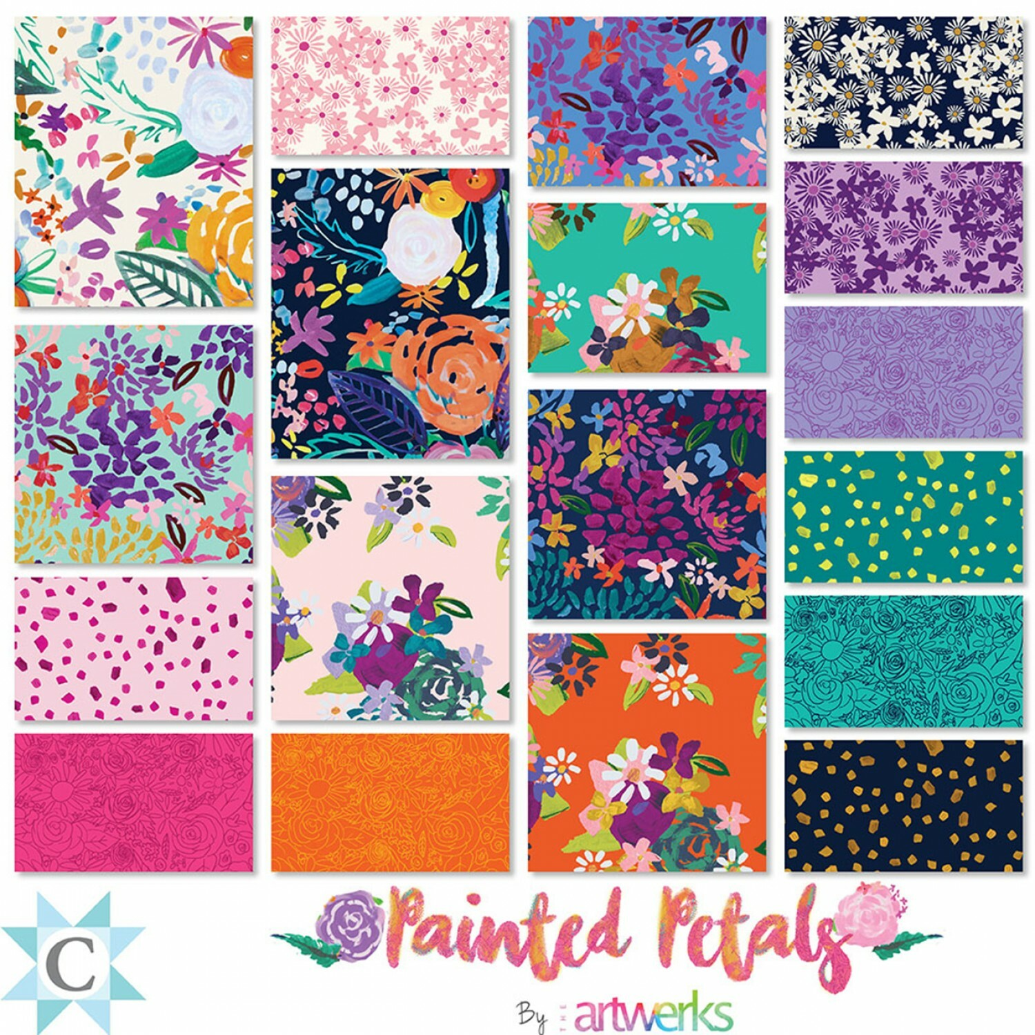Painted Petals Charm Pack 57112