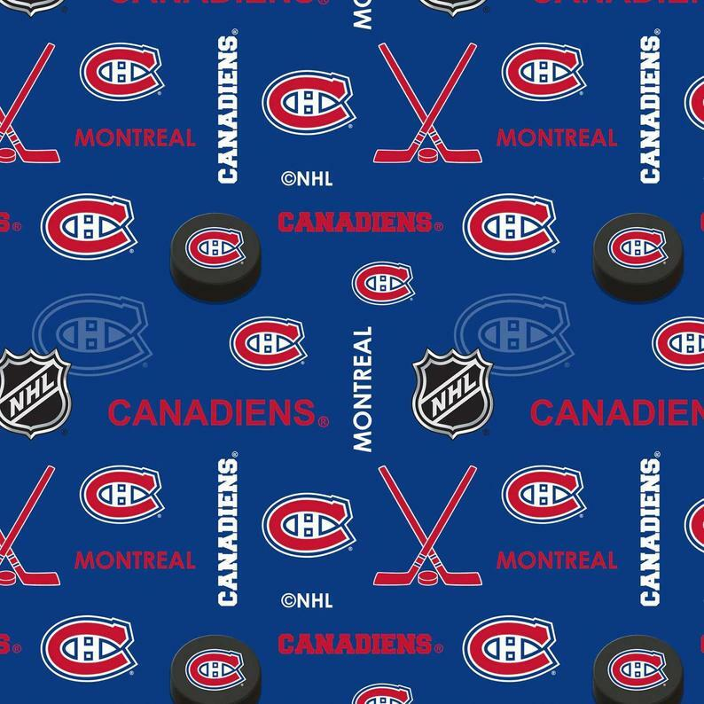 NHL Montreal Canadiens Flannel - 1/2m Cut 57135