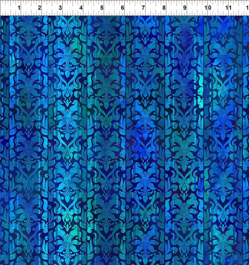 Tapestry - Blue Stripe (4-2) - 1/2m cut 57129