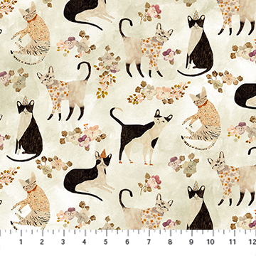 Marcel - Beige Kitties - 1/2m CUT 57278