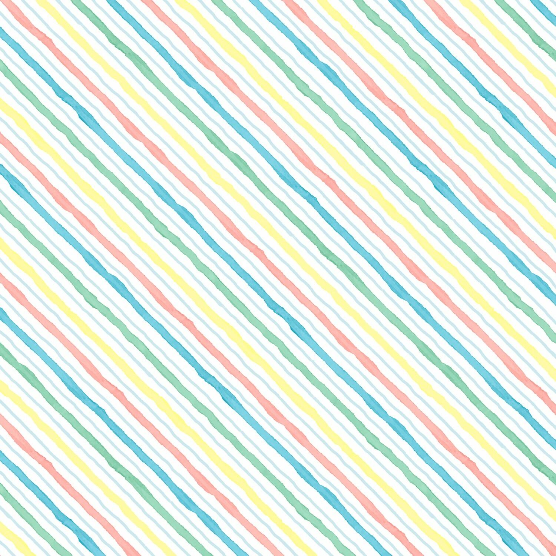 New Friends - Coloured Stripes - 1/2m cut 57242