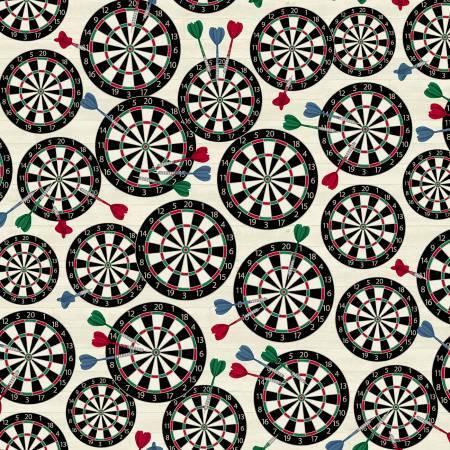 Man Cave - Cream Dart Board - 1/2m cut 57251