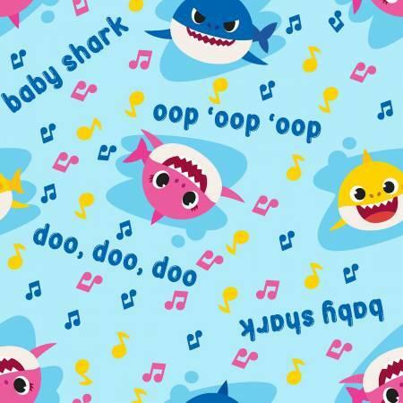Baby Shark - Music Toss - 1/2m cut 57263