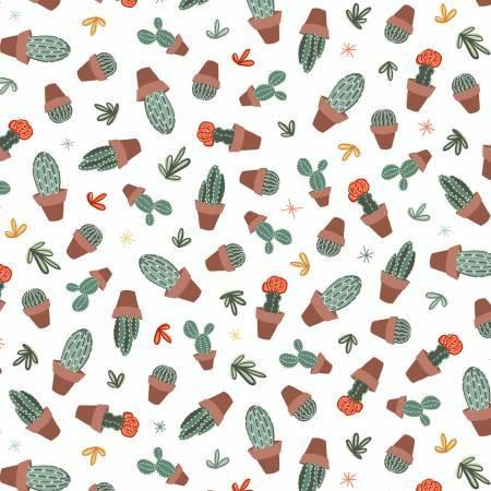 Greenhouse Gardens - White Cactus - 1/2m cut 57265