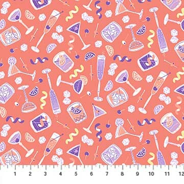 Clink! - Purple Glasses - 1/2m CUT 57285