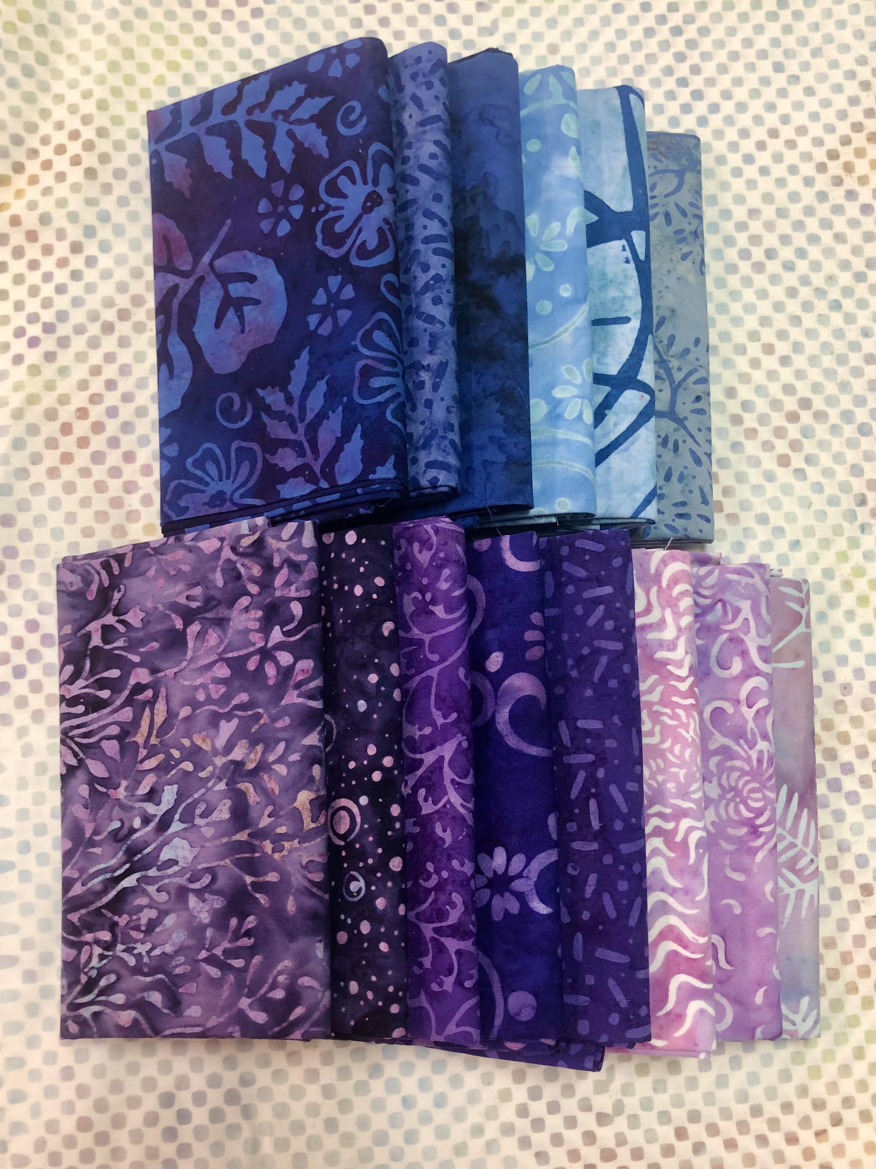 Batik Fat Quarter Bundle - 14 pieces 57339