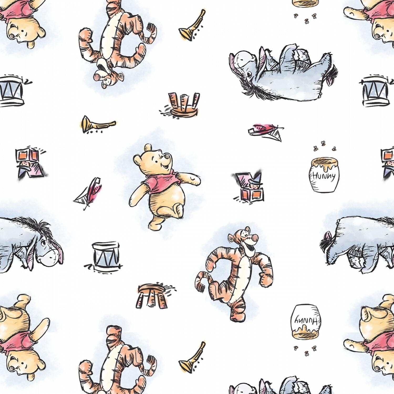 Winnie the Pooh and Friends - 1/2m cut 57345