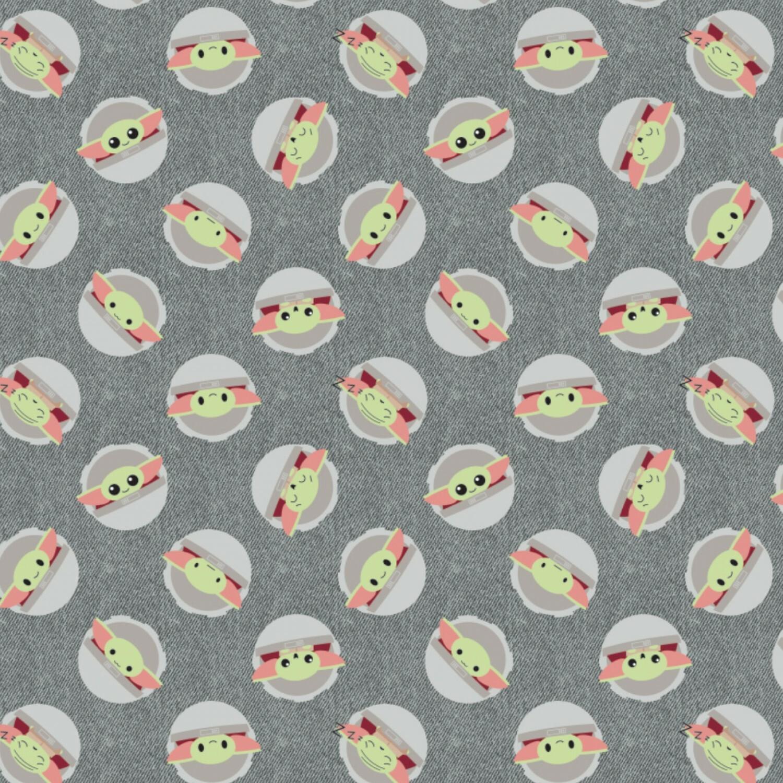 Baby Yoda - Grey Background - 1/2m cut 57393