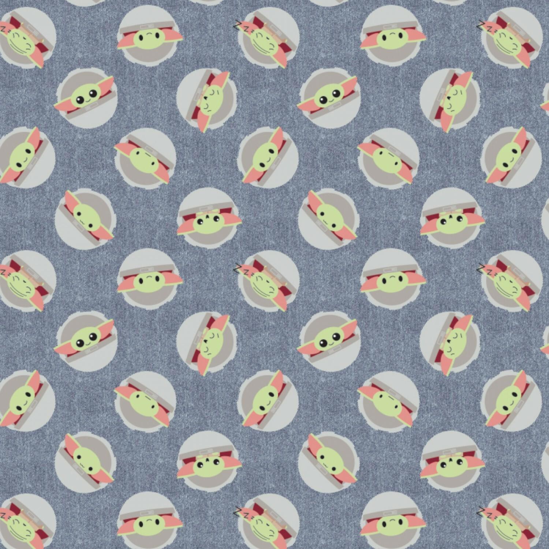 Baby Yoda - Navy Background - 1/2m cut 57394