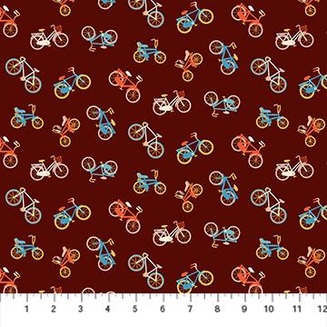 Simple Pleasure - Brown Bikes - 1/2m cut 57407