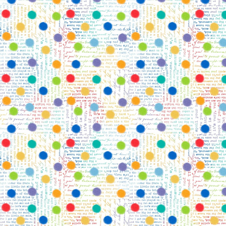 Feeline Good - White Rainbow Spots - 1/2m cut 57440