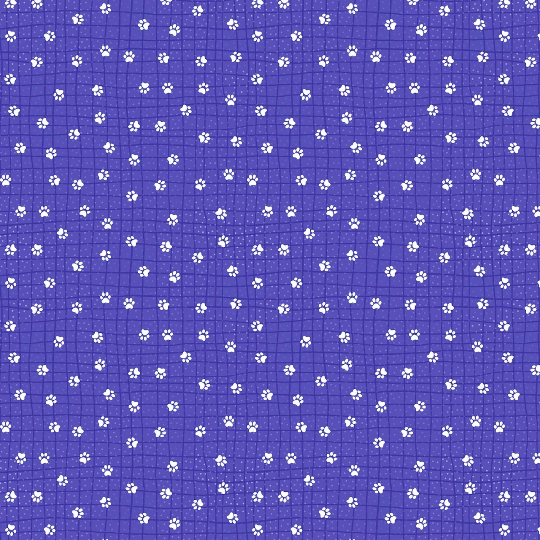 Feeline Good - Blue Paw-Kadots - 1/2m cut 57446