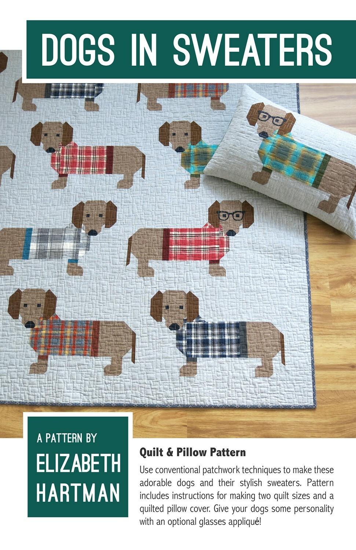 Dogs in Sweaters Pattern by Elizabeth Hartman 57470