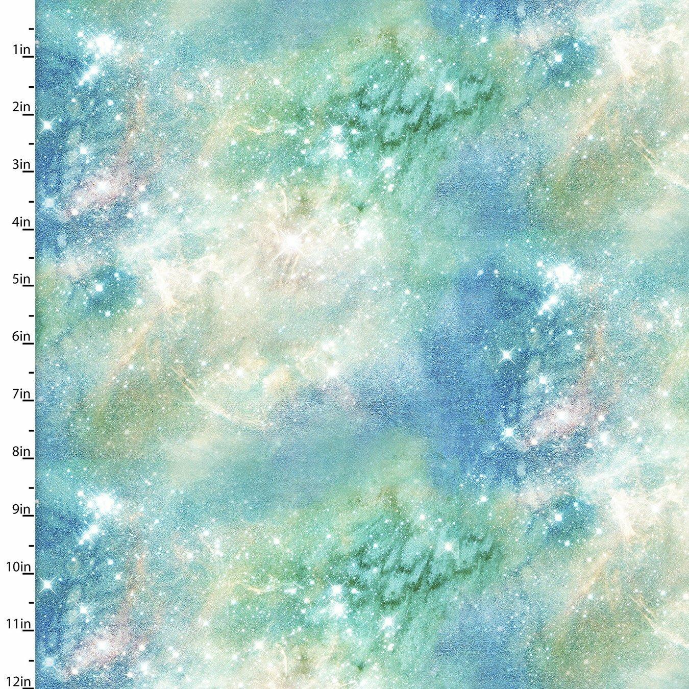 Magical Galaxy - Green Galaxy - 1/2m cut 57491