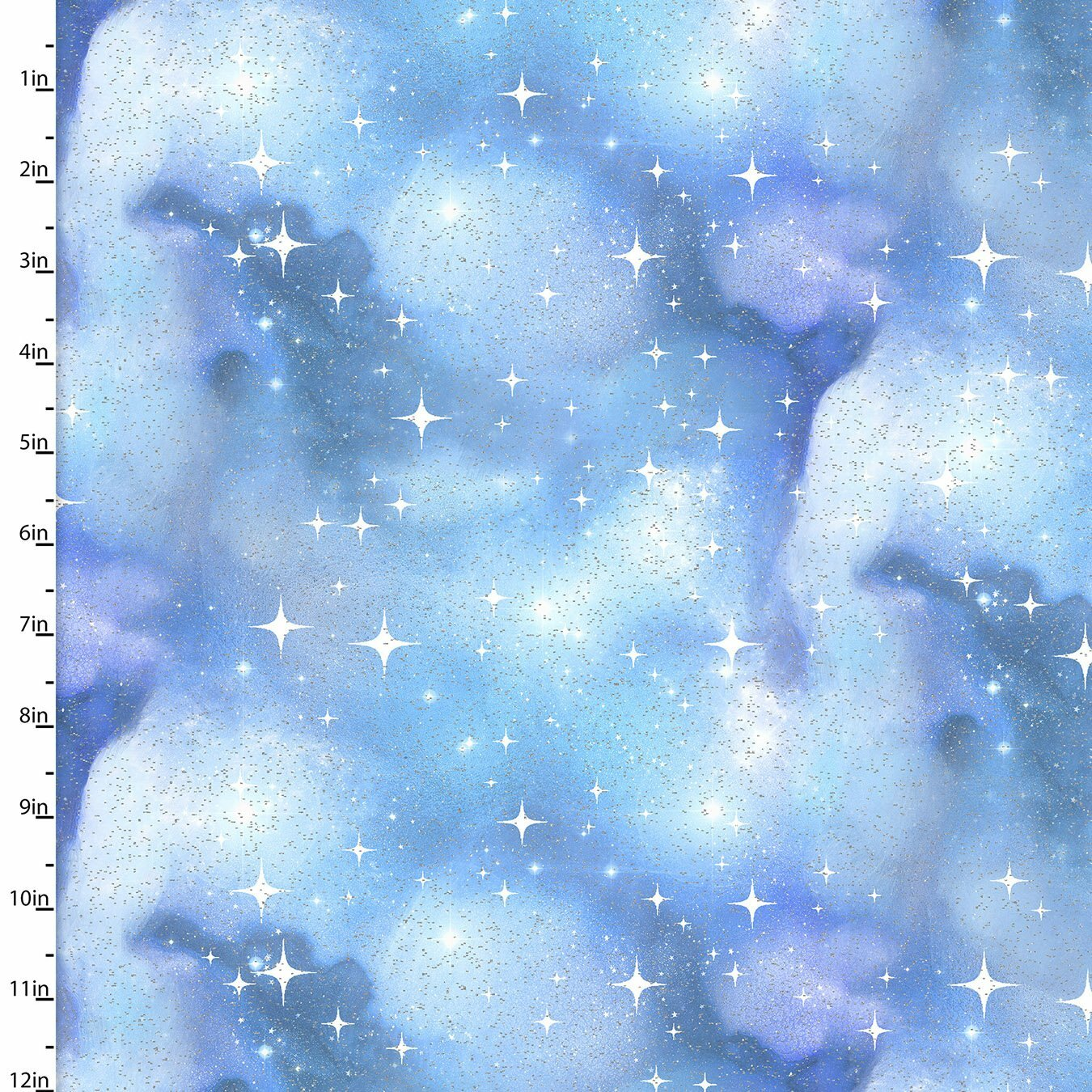 Magical Galaxy - Blue Stars - 1/2m cut 57490