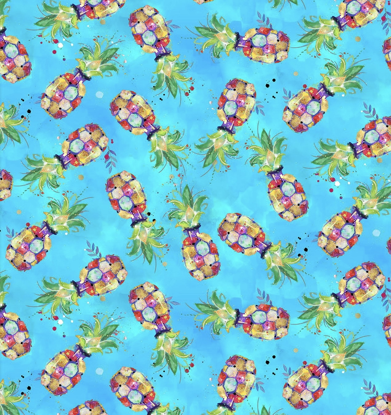 Pineapples - Party Animals - 1/2m cut 57500