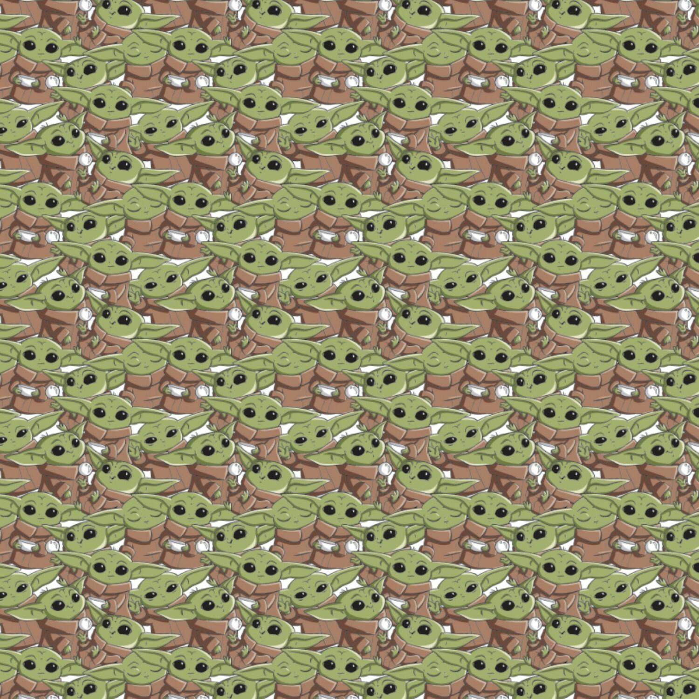 Baby Yoda - Multi - 1/2m cut 57509