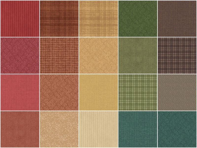 Woolies Flannel Charm Pack - Desert Sunset