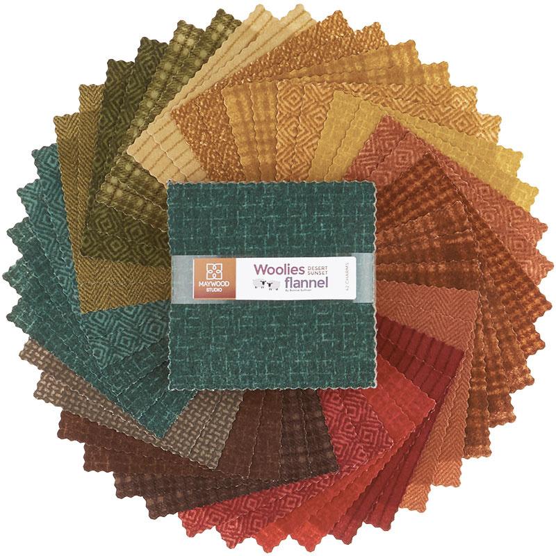 Woolies Flannel Charm Pack - Desert Sunset 57526