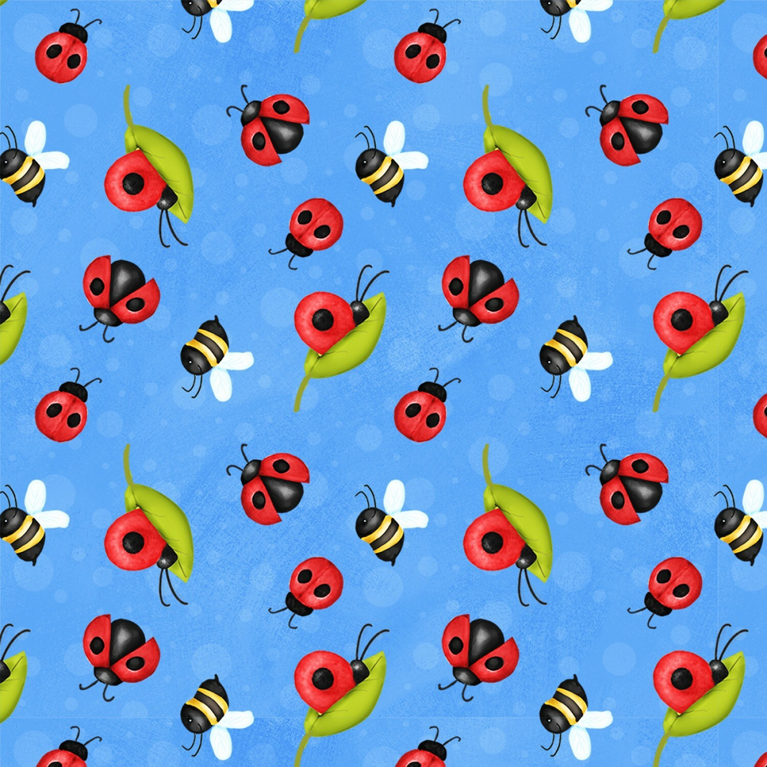 Lady Bugs and Bees - Gnome Is Where Your Garden Grows - 1/2m cut 57534