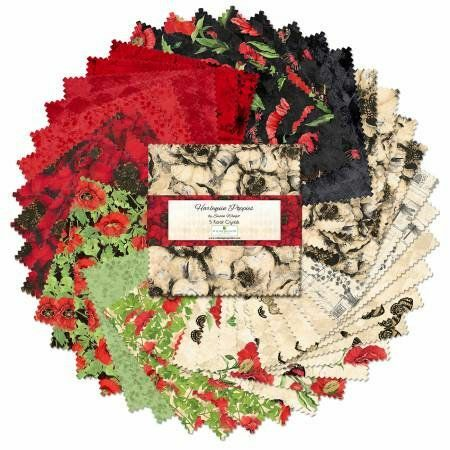 Harlequin Poppies Charm Pack 57537