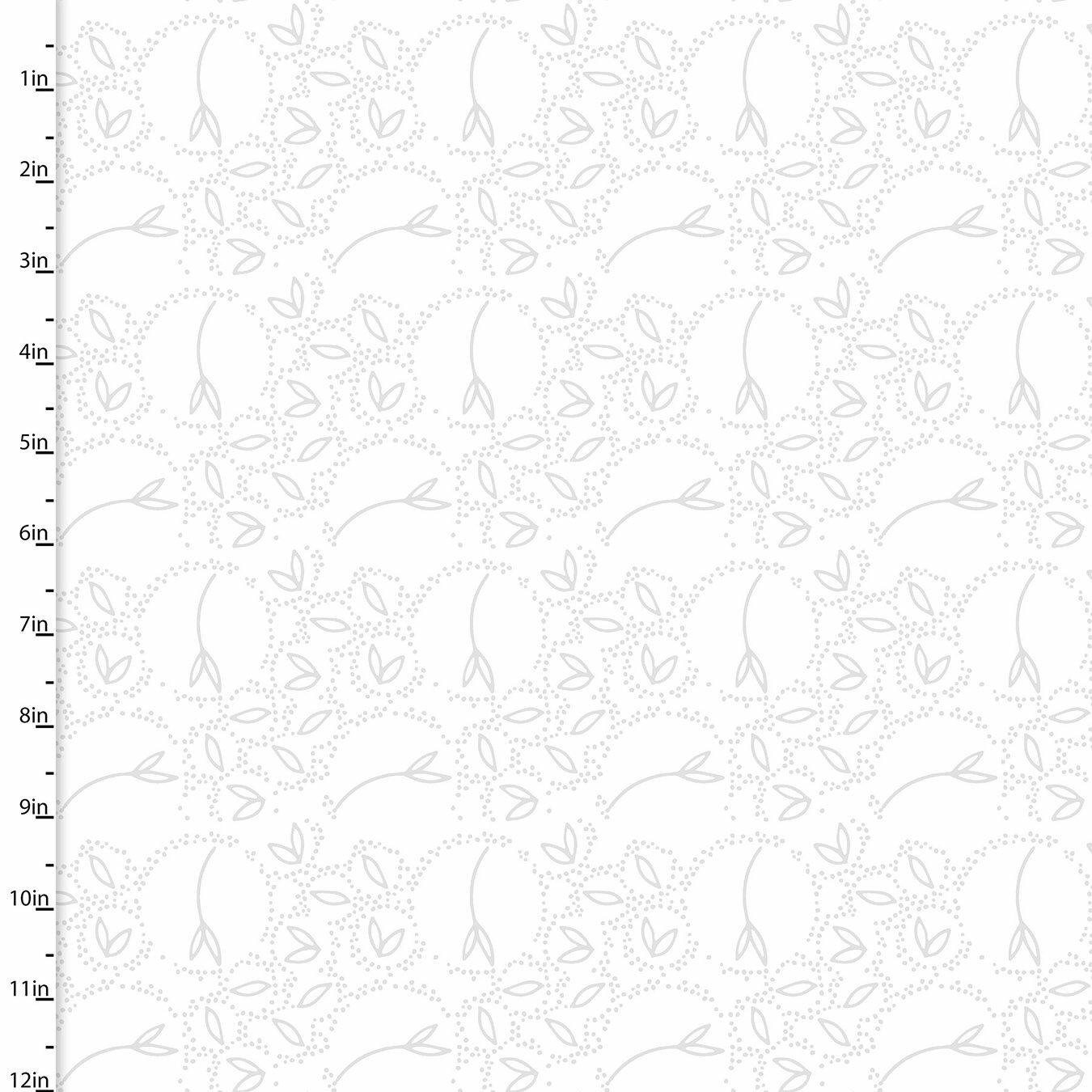 Summer Song - White Lace Vine - 1/2m cut 57550