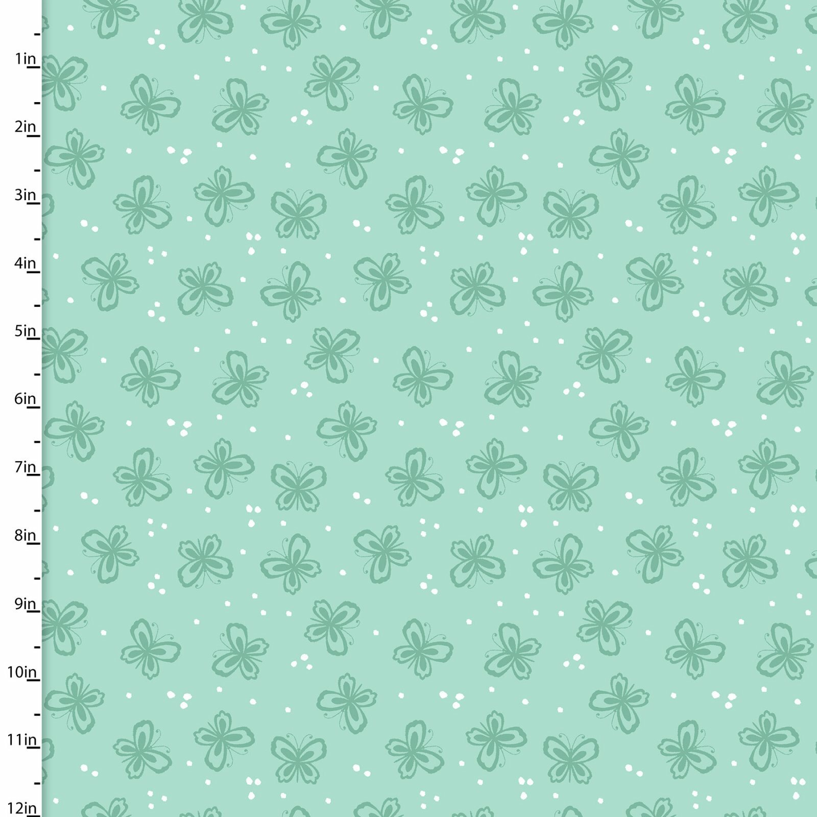 Summer Song - Mint Butterflies - 1/2m cut 57556
