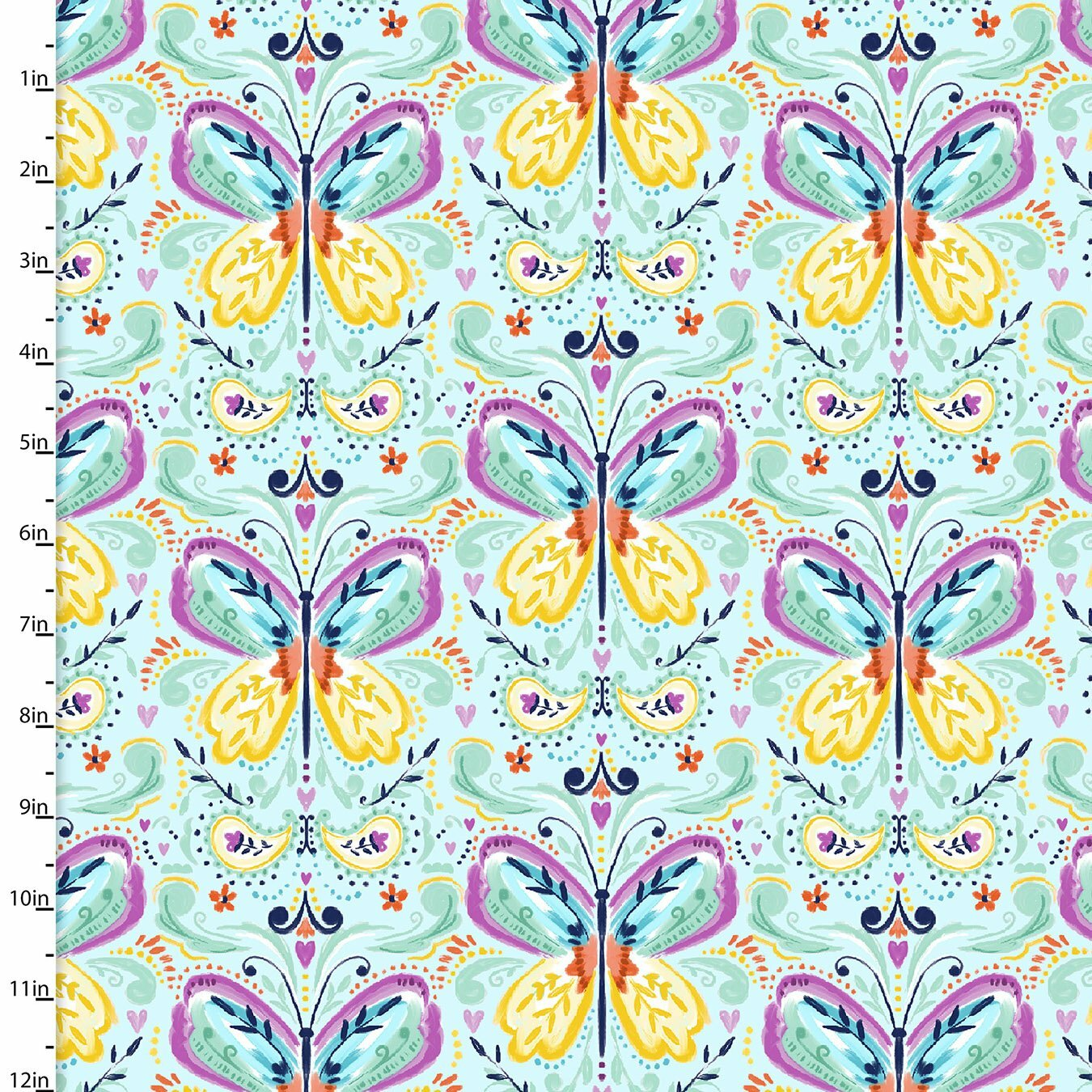 Summer Song - Blue Butterflies - 1/2m cut 57553