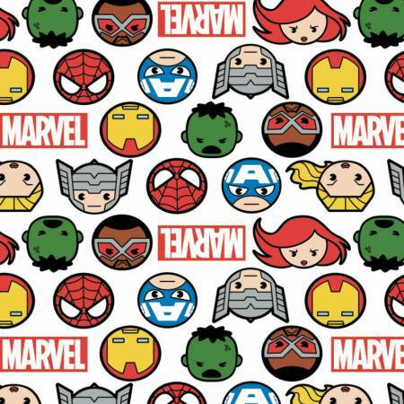 Faces and Logo - Marvel - 1/2m cut 57576