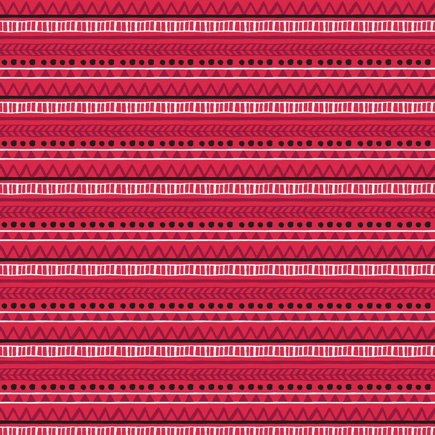 Christmas Sweater Cats - Red Stripe - 1/2m cut 57589