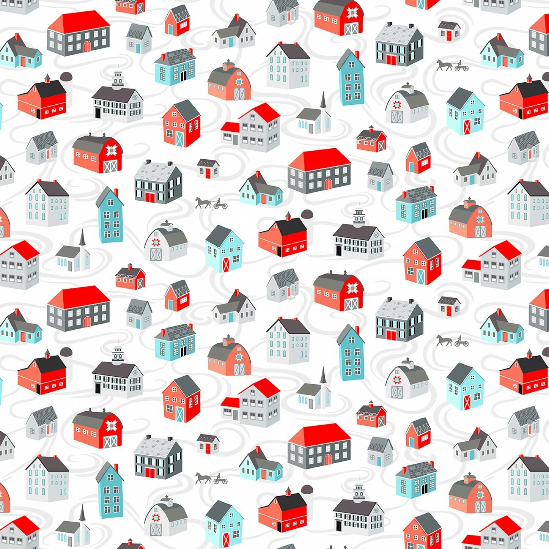 Winter Village - White Village - 1/2m cut 57607