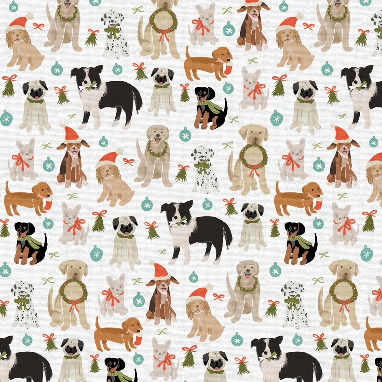 Happy Howlidays - Multi Dogs - 1/2m cut 57601