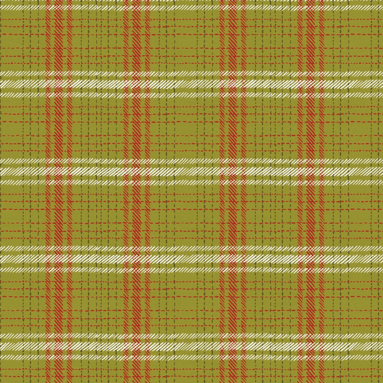Happy Howlidays - Green Plaid - 1/2m cut 57602
