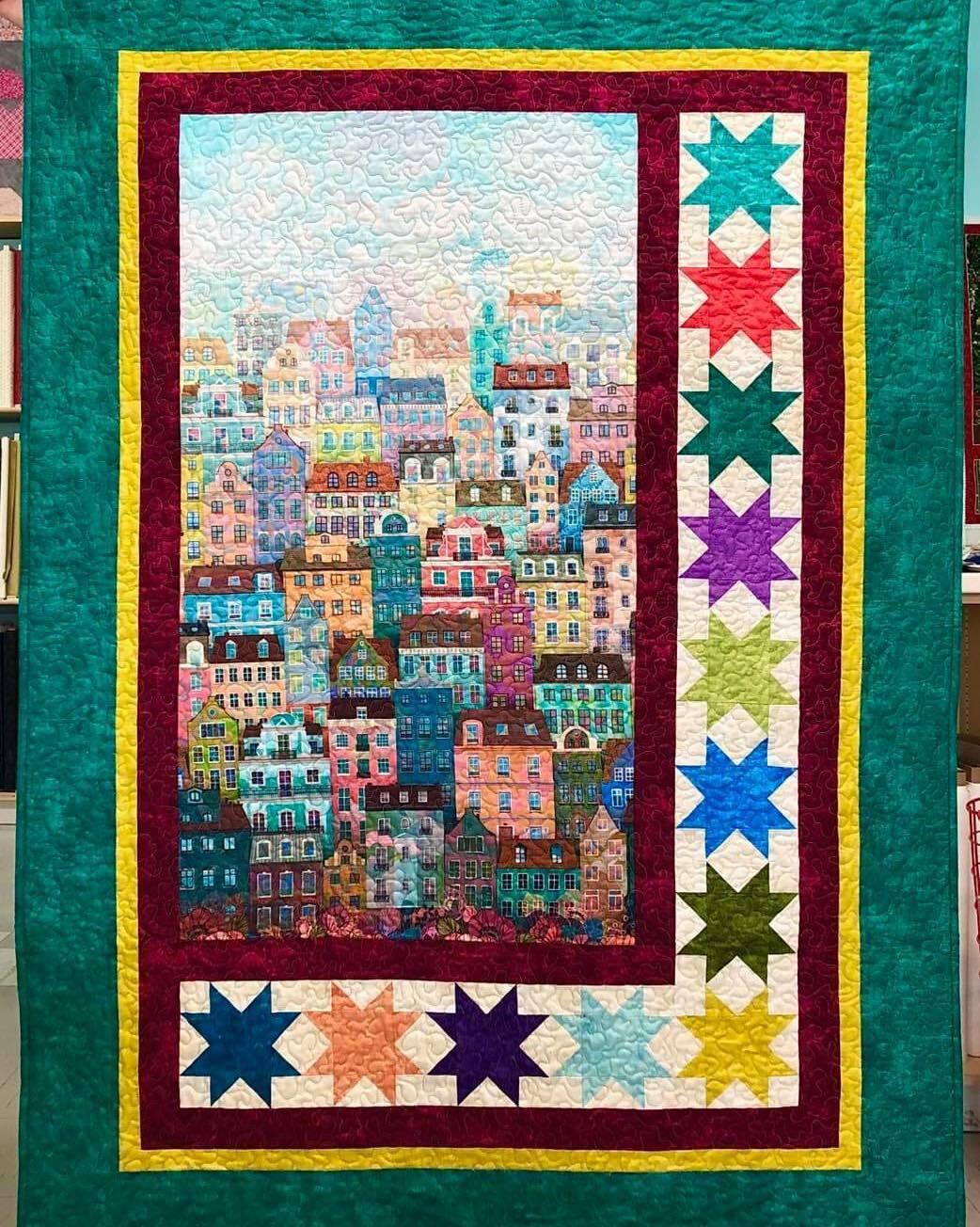 Happy Town Quilt - ONLINE CLASS 57609