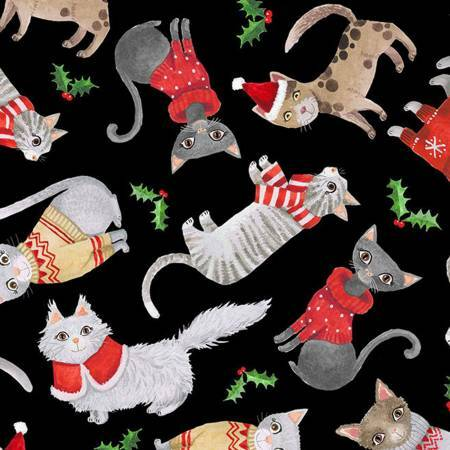 Cats in Christmas Sweaters - 1/2m cut 57625