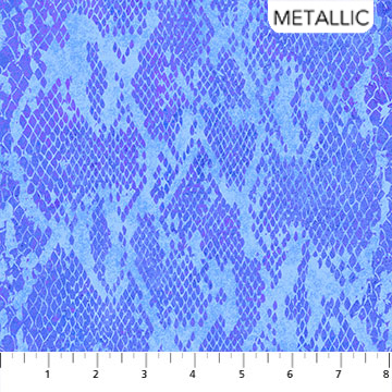 Wild Thing - Blue Purple - Snake - 1/2m cut 57644