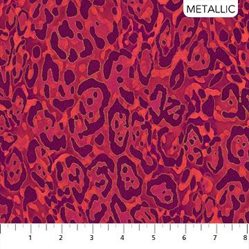 Wild Thing - Merlot - Leopard - 1/2m cut 57657