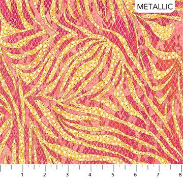 Wild Thing - Coral - Zebra - 1/2m cut 57648