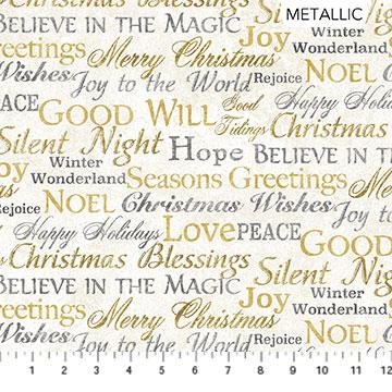 White Christmas - Words - 1/2m cut 57707