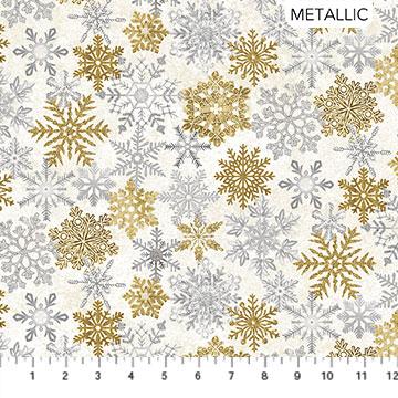 White Christmas - Snowflakes On White - 1/2m cut 57704