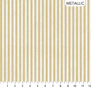 White Christmas - Stripes - 1/2m cut 57705