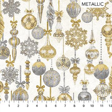White Christmas - Ornaments - 1/2m cut 57702