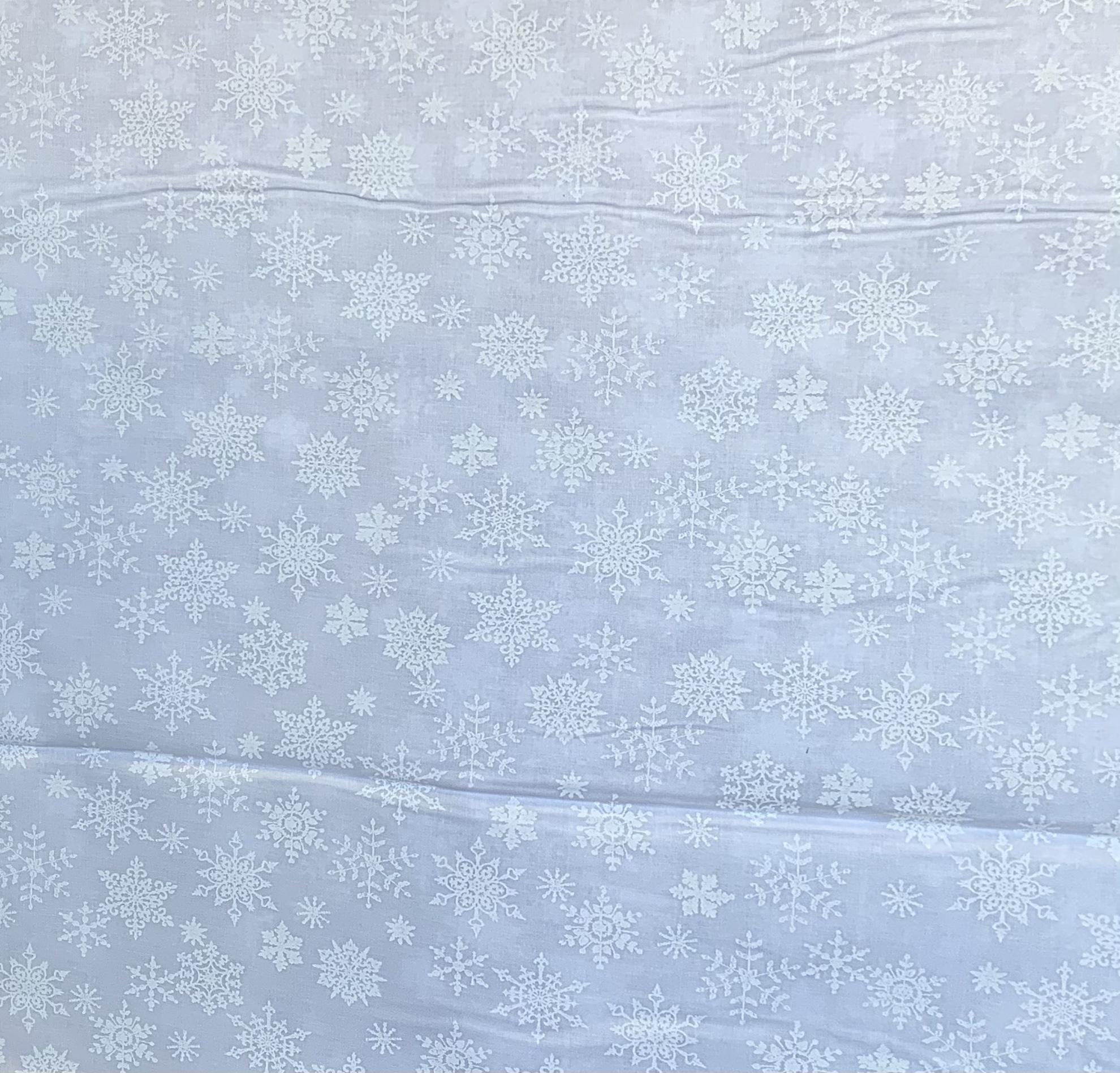 White Tone on Tone - Snowflakes - 1/2m cut 57713