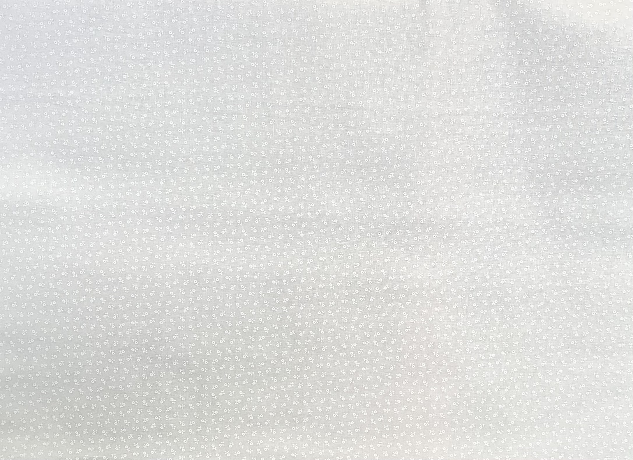 White Tone on Tone - Little Flowers - 1/2m cut 57712