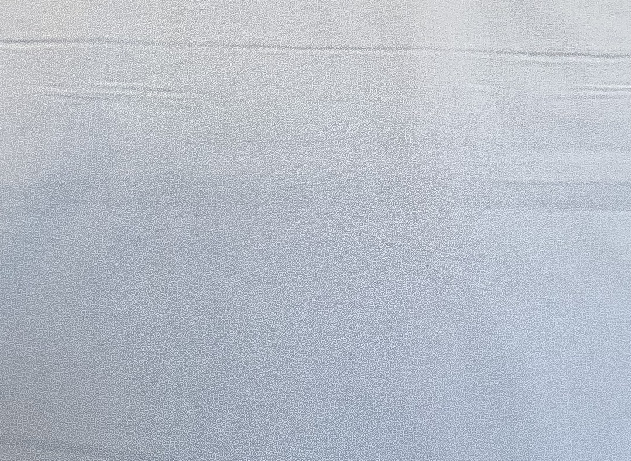 White Tone on Tone - Swirls - 1/2m cut 57716
